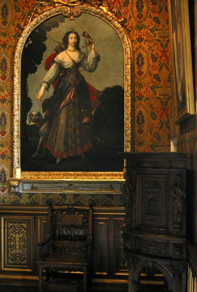 ציור של דיאן דה פונטייה כדיאנה, אלת הציד המיתולוגית